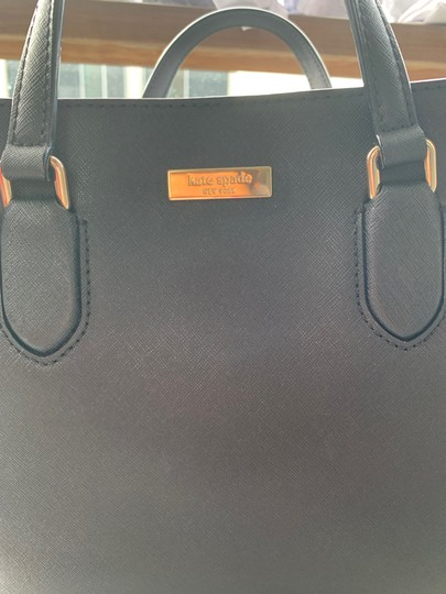 Kate Spade Leather Classic Satchel in Black Image 4