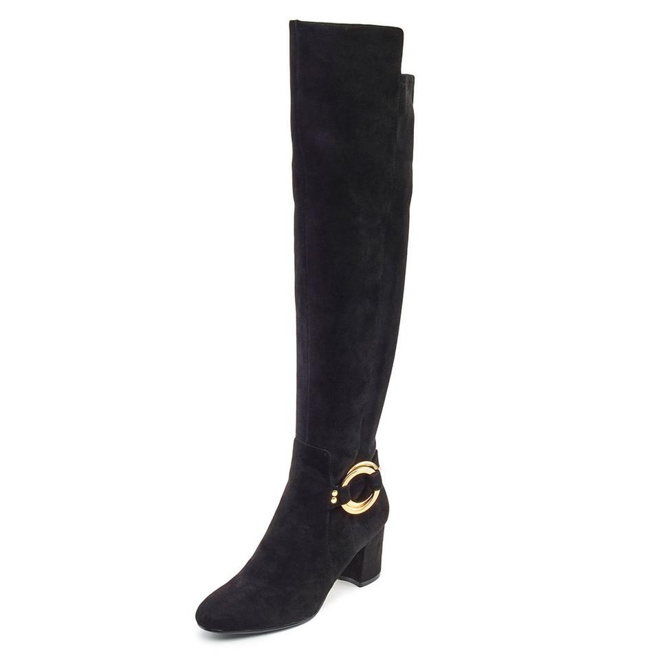 Karl Lagerfeld The Black Paris Cami Over The Lagerfeld Knee Suede Boots/Booties 822374