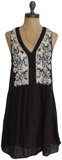 Urban Outfitters short dress FADE BLACK Embroidered Babydoll Free People Ecote on Tradesy Image 0