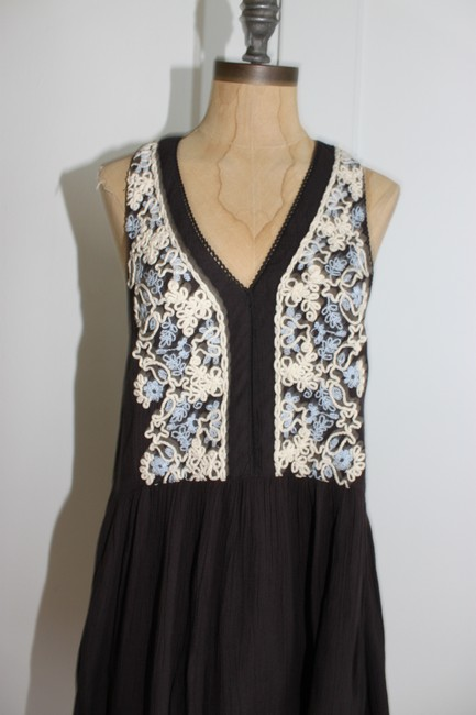 Urban Outfitters short dress FADE BLACK Embroidered Babydoll Free People Ecote on Tradesy Image 1