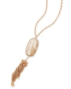 Kendra Scott New Kendra Scott Rayne Long Pendant Necklace Rose Gold Dust