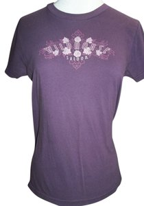 American Apparel Crew Neckline 100% Cotton Short Sleeve Classic T Shirt Plum