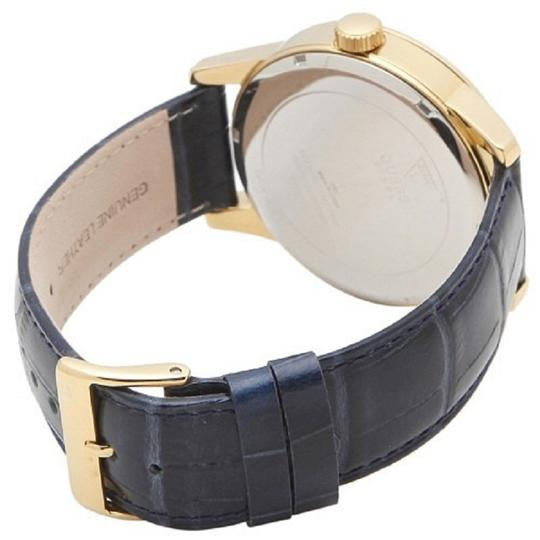 Guess Guess W0662G3 45mm Stainless Steel Case Blue Calfskin Mineral Men's Image 1