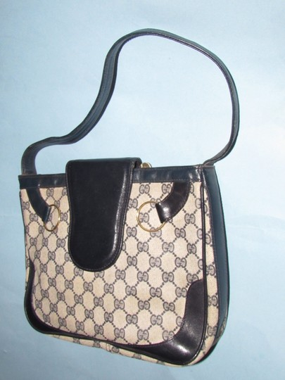 Gucci 'snaffle' Equestrian Accents Great For Everyday Rare Early Excellent Vintage Hobo Bag Image 1