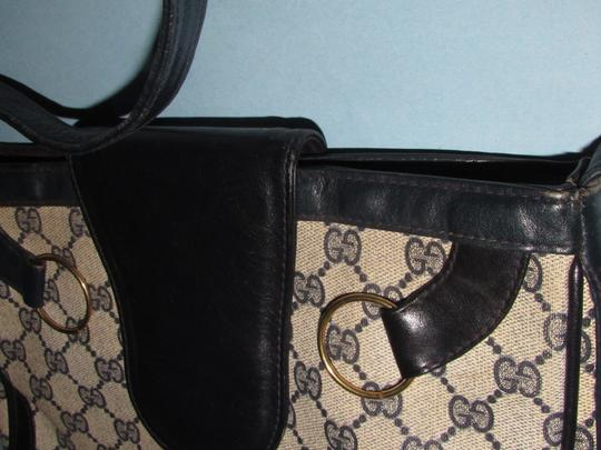 Gucci 'snaffle' Equestrian Accents Great For Everyday Rare Early Excellent Vintage Hobo Bag Image 10
