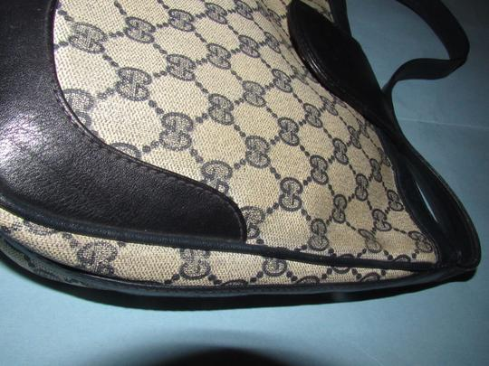 Gucci 'snaffle' Equestrian Accents Great For Everyday Rare Early Excellent Vintage Hobo Bag Image 3