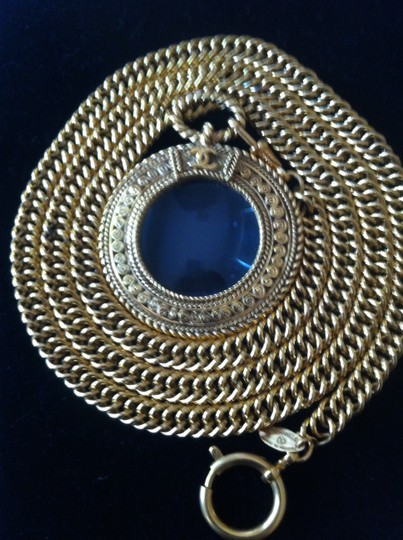 Chanel Iconic Chanel Gold-tone Necklace w/ Magnifying Glass Loupe Pendant Image 1