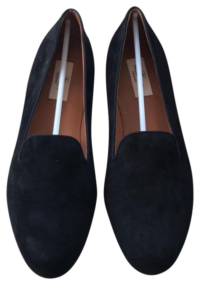 Valentino Black Suede Flats Size Eu 40  Approx  Us 10