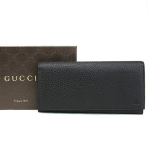 21be6215c78 Gucci Black Leather Long Continental Wallet w Zipper Pocket 296676 1000