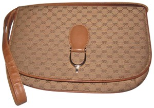 Gucci Equestrian Accents Two-way Style Clutch/Shoulder Mint Vintage Early Style Shoulder Bag