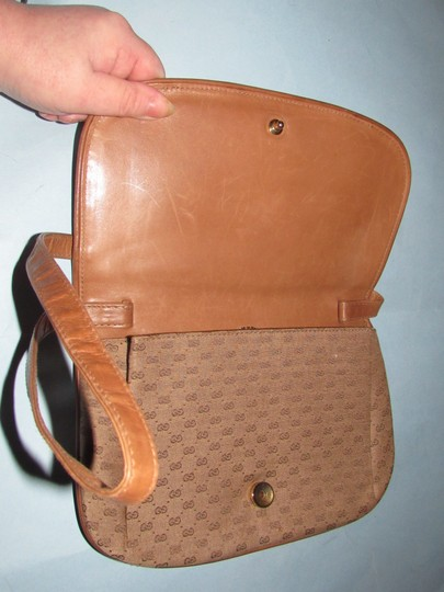 Gucci Equestrian Accents Two-way Style Clutch/Shoulder Mint Vintage Early Style Shoulder Bag Image 2