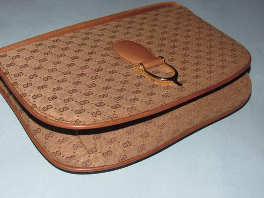Gucci Equestrian Accents Two-way Style Clutch/Shoulder Mint Vintage Early Style Shoulder Bag Image 5