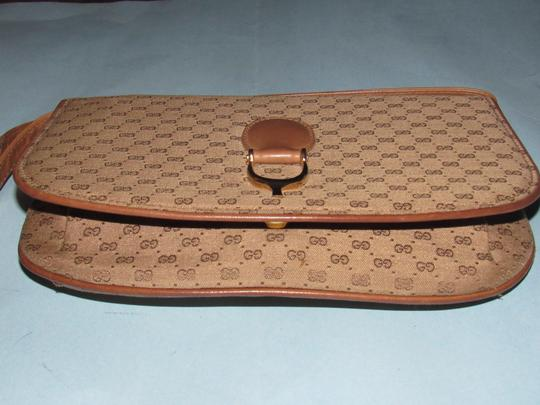 Gucci Equestrian Accents Two-way Style Clutch/Shoulder Mint Vintage Early Style Shoulder Bag Image 7