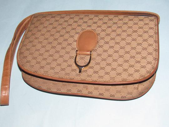 Gucci Equestrian Accents Two-way Style Clutch/Shoulder Mint Vintage Early Style Shoulder Bag Image 8