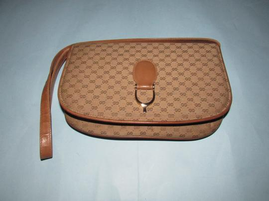 Gucci Equestrian Accents Two-way Style Clutch/Shoulder Mint Vintage Early Style Shoulder Bag Image 9