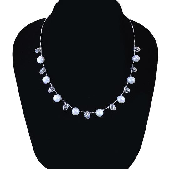 Avital & Co Jewelry 8mm Pearl Necklace Made In Italy 14K White Gold Image 2