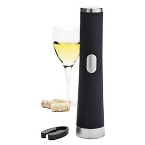 The Sharper Image Black Wine Opener Barware