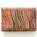 Patricia Nash Designs Wavy Stripe Studded Leather Colli Flap Clutch Wallet Image 2