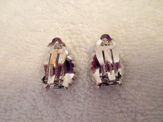 Other Pennino Crystal Baguette Clip Earrings 1950's Mid Century Signed Image 8