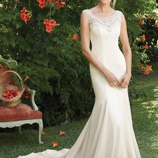 Preload https://img-static.tradesy.com/item/22865683/casablanca-champagnesilver-fabric-perfecting-satin-with-charmeuse-style-2284-petunia-feminine-weddin-0-1-540-540.jpg