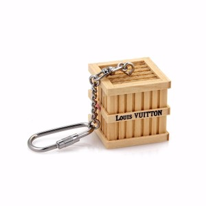 Louis Vuitton - Underground Wood Box Silver Metal Key Chain Bag Charm