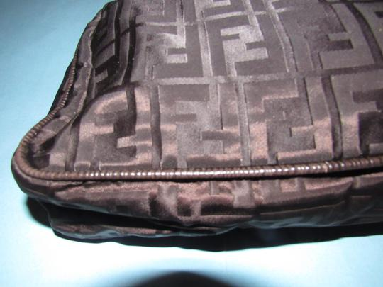 Fendi Excellent Vintage Has Dust Two Way Style Early Sas Satchel in brown large F logo print canvas & brown leather Image 4