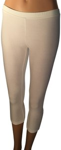 Ginatricot Capri Cropped Stretchy White Leggings