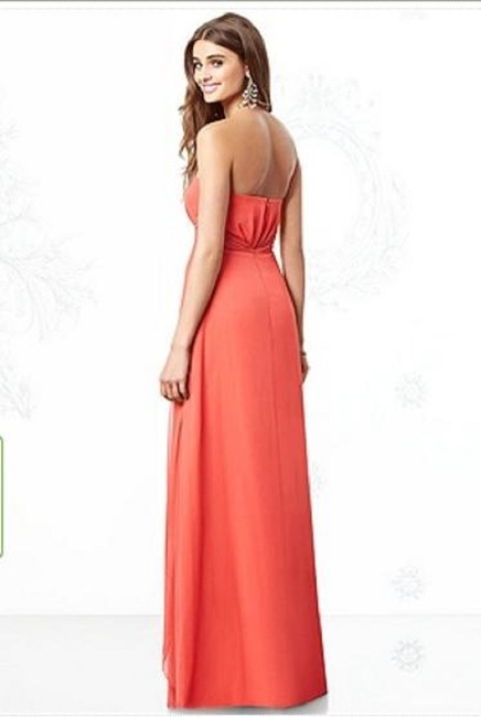 After Six Strapless Chiffon Dress Image 3