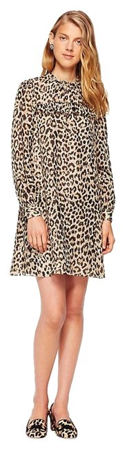 Kate Spade Leopard Print Gold Black New York Mini Short Night Out Dress Size 8 (M) Kate Spade Leopard Print Gold Black New York Mini Short Night Out Dress Size 8 (M) Image 1