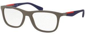 Prada Sports PS04FV-UR41O1 Linea Rossa Men's Brown Frame Genuine Eyeglasses