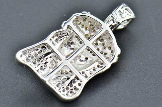 Jewelry For Less Diamond Pendant Tear Drop Mini Jesus Head Sterling Silver Charm .76 CT Image 5