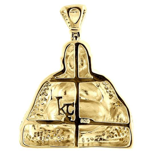 Jewelry For Less Diamond Laughing Buddha Pendant Mens .925 Sterling Silver Charm .60 Ct Image 2