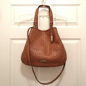 Cole Haan Purse Handbag Satchel Shoulder Woven Cross Body Bag