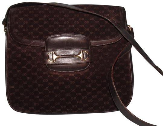 Preload https://img-static.tradesy.com/item/22865987/gucci-vintage-pursesdesigner-purses-dark-brown-small-g-logo-print-embossed-suede-and-leather-and-hob-0-3-540-540.jpg