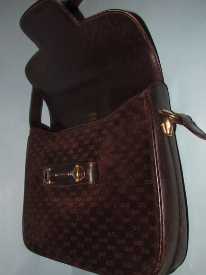 Gucci Equestrian Accents Mint Vintage Early Style Great For Everyday Rich Hobo Bag Image 9