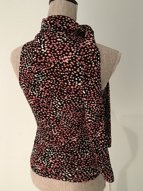 Guess Summer Size 6 Size Small Black, Pink, White Halter Top Image 3