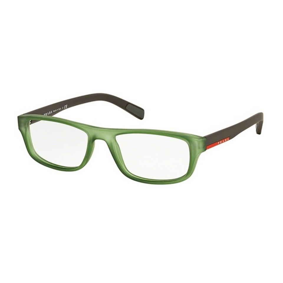 c1f894f639a Prada Sports PS06GV-UFK1O1 Linea Rossa Men s Green Frame Genuine Eyeglasses  ...