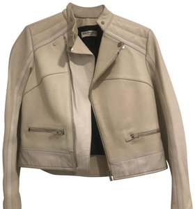 Balenciaga Cream Leather Jacket