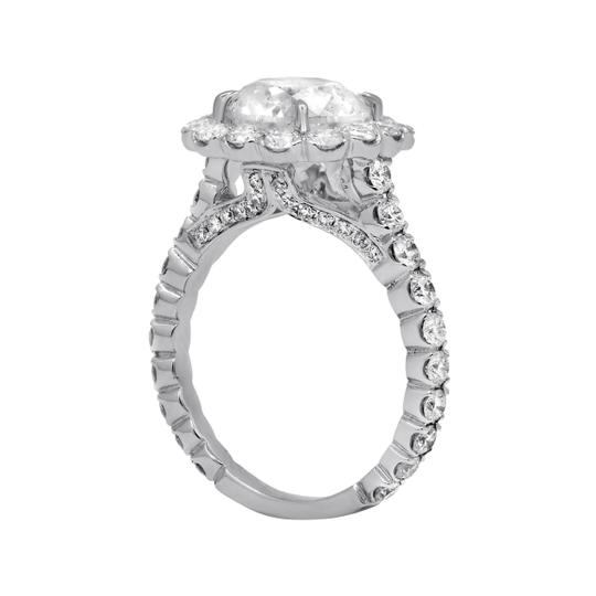 One Of Kind Halo Diamond Engagement with 4.38 Carats.certified Ring Image 4