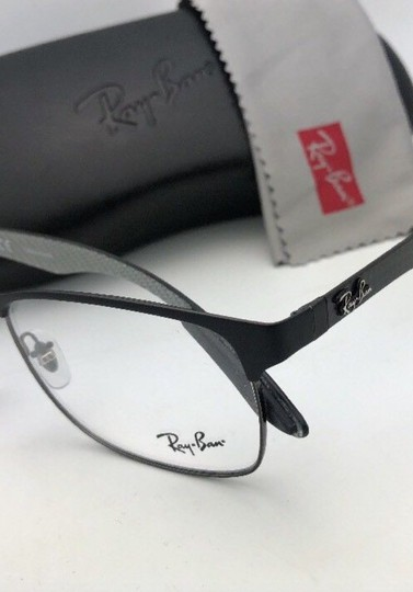 Ray-Ban RAY-BAN Eyeglasses TECH RB 8416 2916 55-17 Black & Gunmetal w/ Carbon Image 1