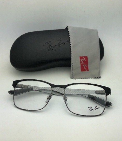 Ray-Ban RAY-BAN Eyeglasses TECH RB 8416 2916 55-17 Black & Gunmetal w/ Carbon Image 11
