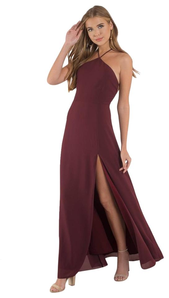 bf658caeea1 Tobi Wine Red Rise Above Lace Up Maxi Long Formal Dress Size 8 (M ...
