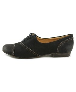 Naturalizer Oxford Trendy Professional Round Toe Laceup black Flats