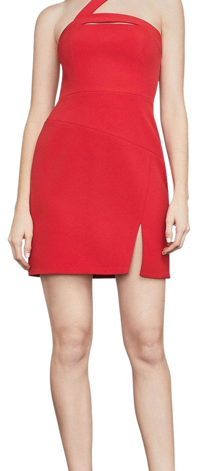 Shoulder Red Jewel Asymmetrical BCBGMAXAZRIA Dress Dayne Formal q6pxxOAw