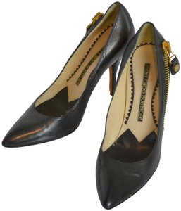 Jimmy Choo Pointy Toes Classic Leather Vintage Dark brown Pumps