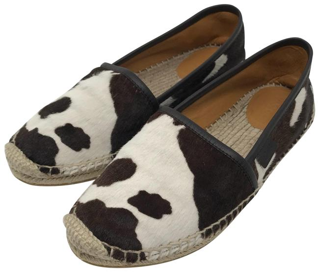 Item - Brown and White Espadrille Calf Hair Flats Size EU 36.5 (Approx. US 6.5) Regular (M, B)
