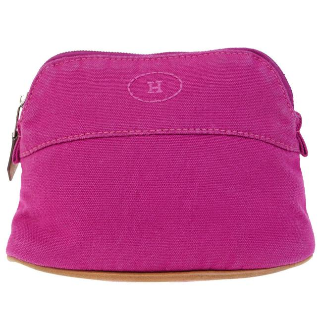 Item - Pink Canvas Cosmetic Bag