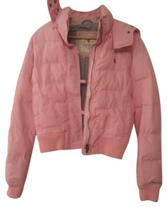 Abercrombie & Fitch pink outside grey inside Jacket