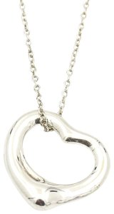 Tiffany & Co. Tiffany & Co. Elsa Peretti 16mm Open Heart Pendant Necklace in Silver