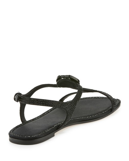 Tory Burch Crystal Logo Delphine Black Sandals Image 1